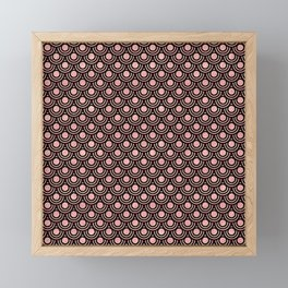 Mermaid Scales in Warm Rose Gold on Black Framed Mini Art Print