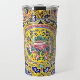 Floral Persian Tile Travel Mug
