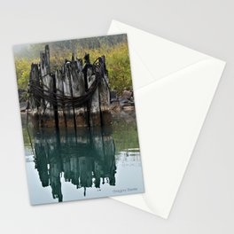 old pilings Stationery Cards