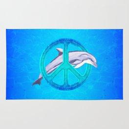 Dolphin Peace Rug