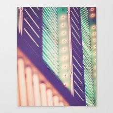 Turquoise Neon Canvas Print