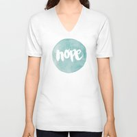 pocketfuel V-neck T-shirts featuring HOPE by Pocket Fuel