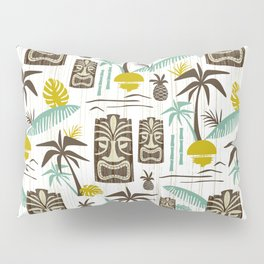 Island Tiki - White Pillow Sham