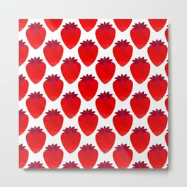 Low poly strawberries Metal Print
