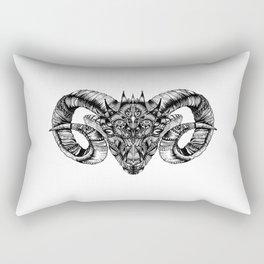 Zentangle Aries (Ram head) Rectangular Pillow