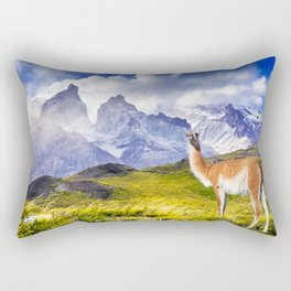Patagonia landscape in Torres del Paine, Chile Rectangular Pillow