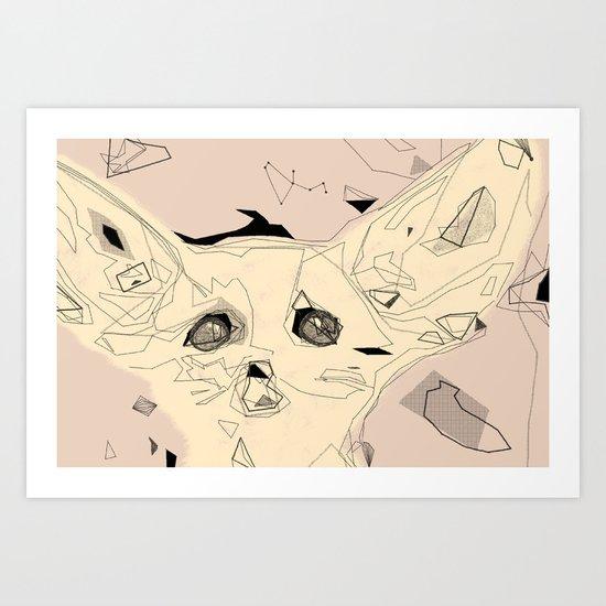 sandfox Art Print