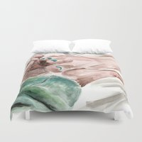 big lebowski Duvet Covers featuring Bunny Lebowski by Gregory Nordquist