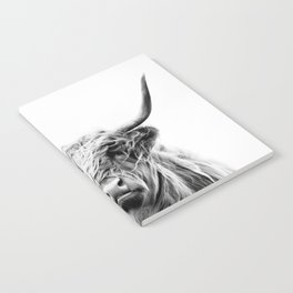 portrait of a highland cow Notebook