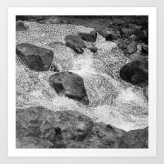 geometric waterfall Art Print
