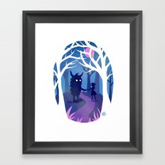 Making Friends with Monsters Framed Art Print