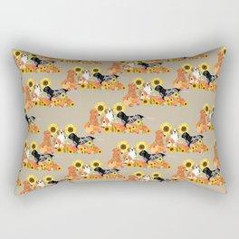 Coonhound Autumn Harvest Rectangular Pillow
