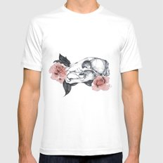 Life&Death White Mens Fitted Tee MEDIUM