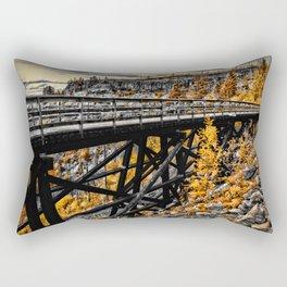 the yellow bridge Rectangular Pillow