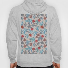 Watercolor Fruit Figs and Leaves Hoody