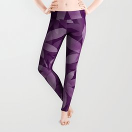 Purple Cannabis Leaf Weed Pattern | Marijuana Leaves Design Leggings