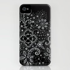 B&W Lace Slim Case iPhone (4, 4s)