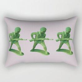 Toy Soldier Polygon Art Rectangular Pillow