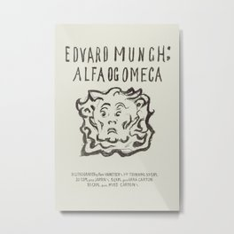 Alpha and OmegaTitle Page (ca. 1909–1909) by Edvard Munch. Metal Print