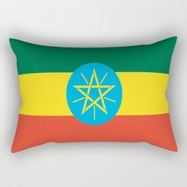flag of Ethiopia-ኢትዮጵያ, የኢትዮጵያ ,Amharic,  Ethiopian, Addis Ababa. Rectangular Pillow