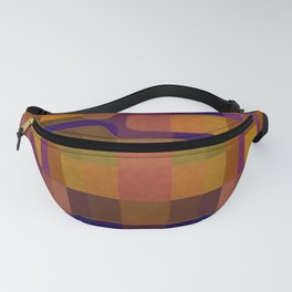 """Retro Labyrinth Violet and Orange"" Fanny Pack"