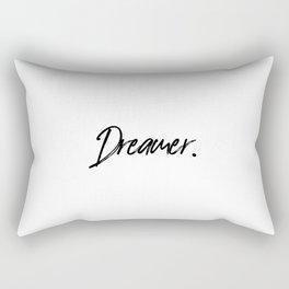 Dreamer, Home Decor, Dreamer Quote, Inspirational Quote, Motivational Art, Inspiring Rectangular Pillow
