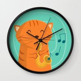Jazz Cat Wall Clock