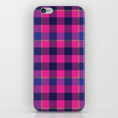 Pink and Navy Plaid iPhone & iPod Skin