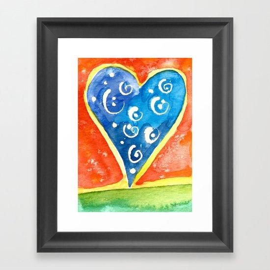 Heart I Framed Art Print