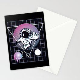 Vaporwave Astronaut Stationery Cards