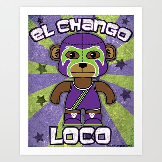 Luchamals- El Chango Loco Art Print