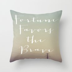 Fortune Favors (Wires) Throw Pillow
