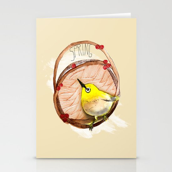 Spring birdy / Nr. 1 Stationery Cards