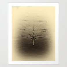 Rower on Charles River, Boston 2013 Art Print
