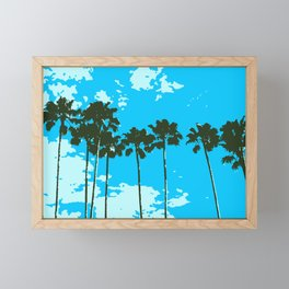 Vacation Palm View Framed Mini Art Print