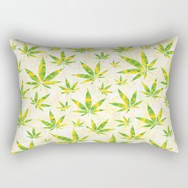 Weed OG Kush Pattern Rectangular Pillow