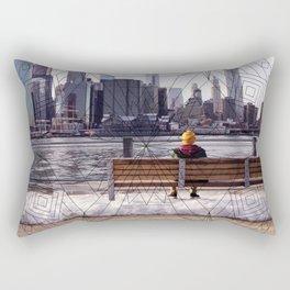 New York Mandala Rectangular Pillow