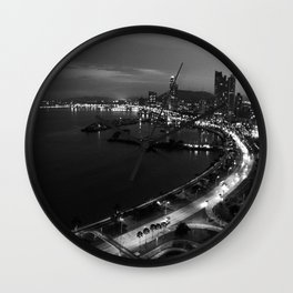 Panama City Sin Colores Wall Clock