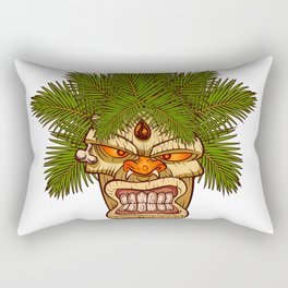 illustration of a tiki totem. Rectangular Pillow