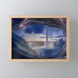 Eye of the Beast Seljalandsfoss Waterfall Framed Mini Art Print