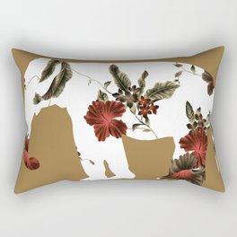 flowers pattern on elephant Rectangular Pillow