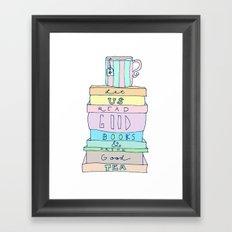 Good Books Framed Art Print