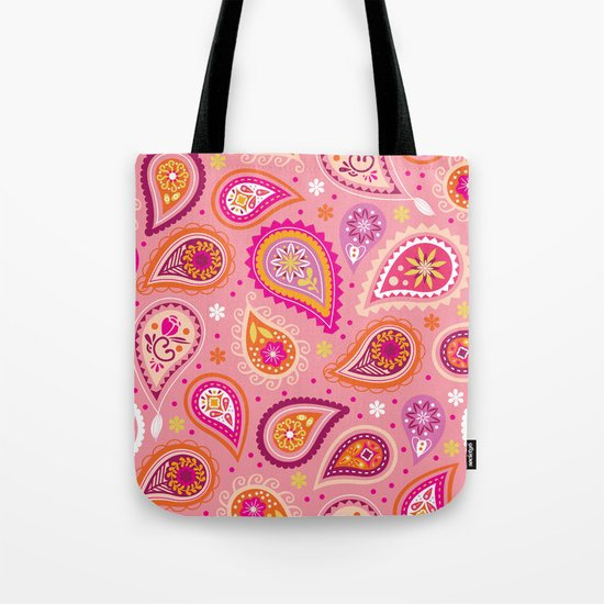 Colorful summer paisleys Tote Bag