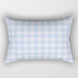 Gingham Pattern - Blue Rectangular Pillow
