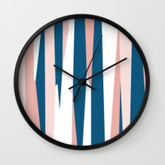 Peachy blue Wall Clock