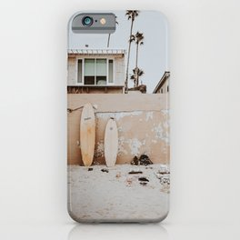 lets surf viii / san diego, california iPhone Case
