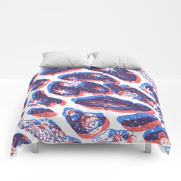 Offset Universe Blue and Red Comforters