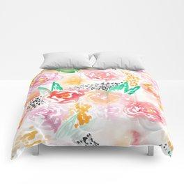 Abstract Watercolor III Comforters