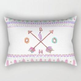 Boho Typogrpahy Tribal Aztec Feather Arrow Pattern Rectangular Pillow
