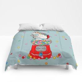 Unicorn Gumball Poop Comforters